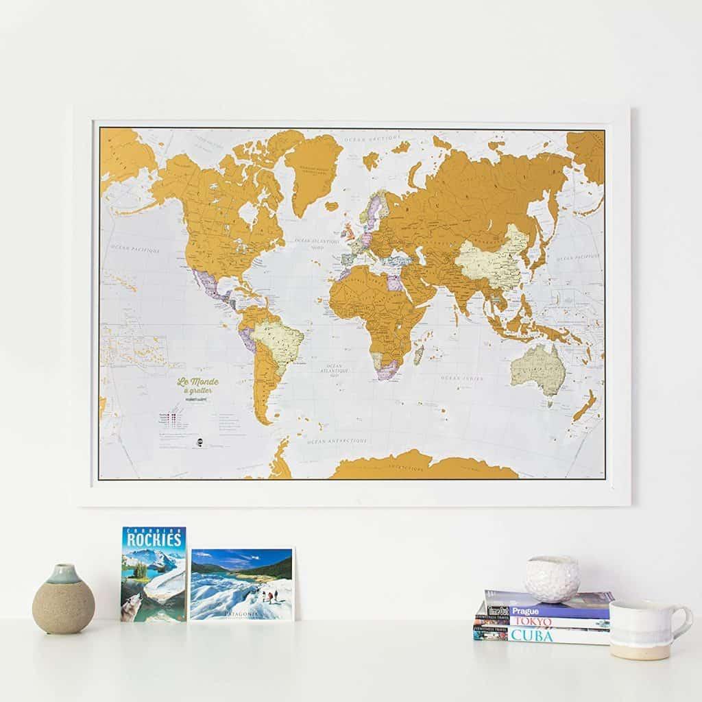 les plus belles cartes du monde gratter floril ge. Black Bedroom Furniture Sets. Home Design Ideas