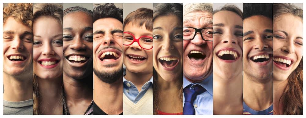 visages rieurs